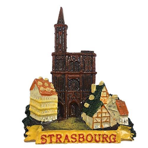 Strasbourg France Fridge Magnet 3D Resin Handmade Craft Tourist Travel City Souvenir Collection Letter Refrigerator Sticker