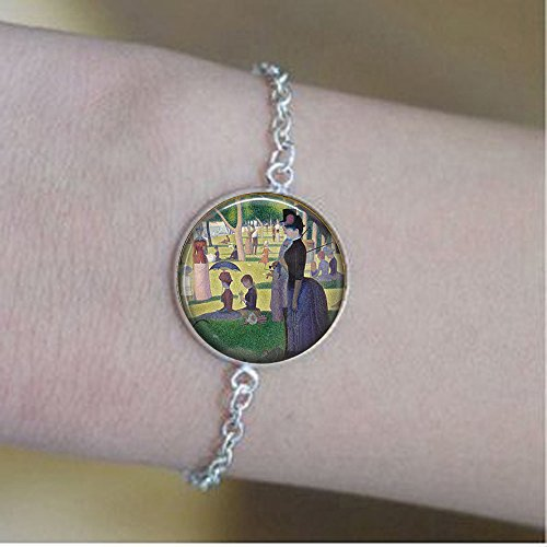 Georges Seurat's A Sunday Afternoon on The Island of The Grande Jatte- Classic Art Lover Gift - Seurat Bracelets - Seurat Bracelets -