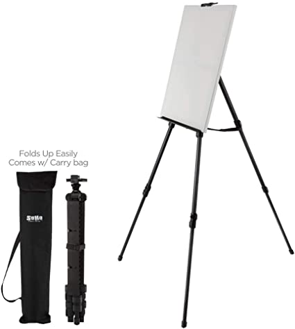 Indoor Outdoor Use Holds Canvases up to 50 High Soho Urban Artist Aluminum Art Easel /& Carry Bag for Plein Air Painting Lightweight Anodized Aluminum Compact Painting Easel