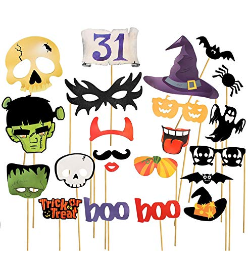 Halloween Party Photo Booth Props Creative Happy-Halloween Party Decoration-22pack