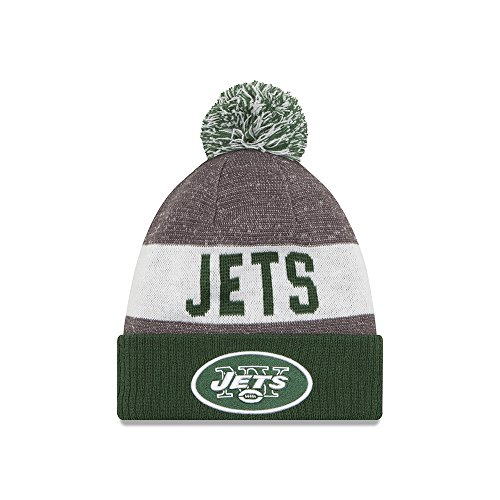 Men's New Era New York Jets 2016 Sideline Sport Knit Hat Heather Grey Size One Size - New York Jets Knit Hat