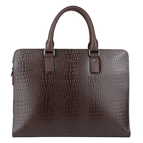 Banuce Men's Genuine Leather Embossed Crocodile Briefcase...