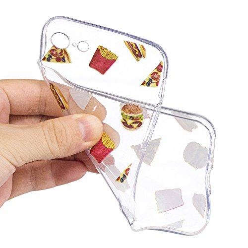 iPhone 8 Hülle Burger Pommes Premium Handy Tasche Schutz Transparent Schale Für Apple iPhone 8 + Zwei Geschenk