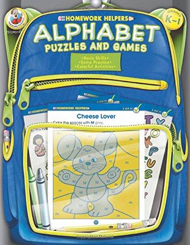 Download Alphabet Puzzles and Games Homework Helper, Grades K to 1 PDF