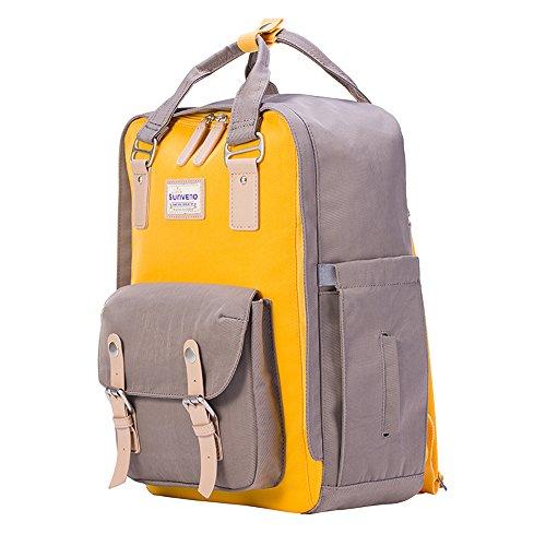 sunveno multifuncional momia bolsa bebé pañales mochila pañal chainging mochila con cambiador rojo rosso amarillo