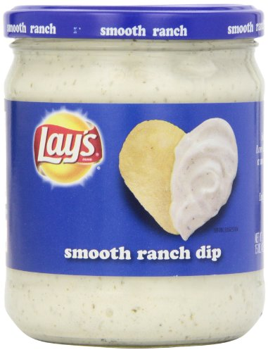 Lay's Smooth Ranch Dip,15 Ounce Creamy Salsa Dip