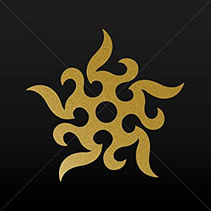 Amazon.com: Adhesivos calcomanía tatuaje tribal estrellas ...