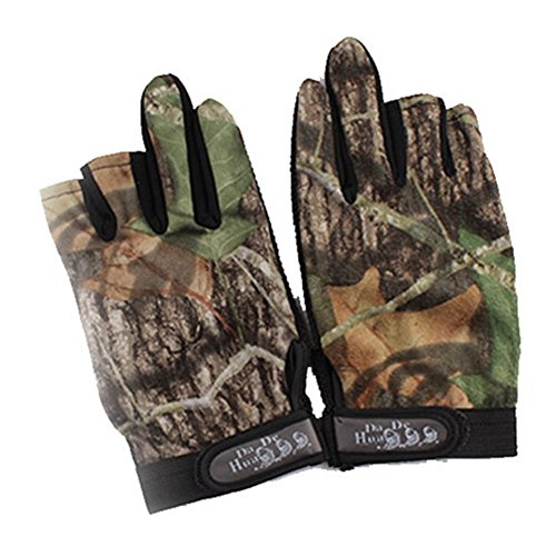 Tsptool Fingerless Gloves Outdoor Waterproof Sun Protection Gloves Breathable Antiskid Fishing Gloves Camouflage