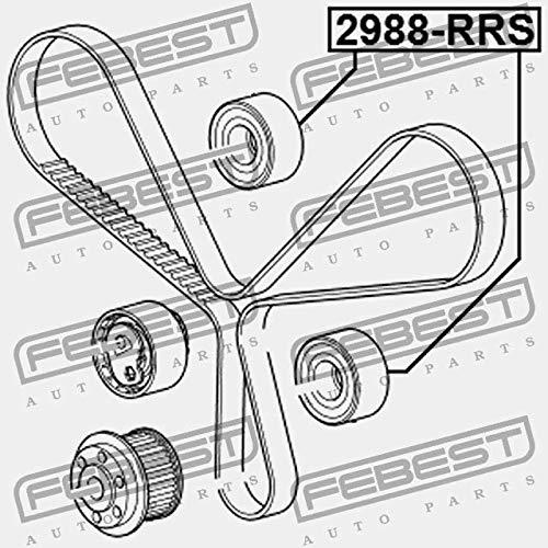 Rodillo de la cambio correa de distribución. febest Color 2988-rrs: Amazon.es: Coche y moto