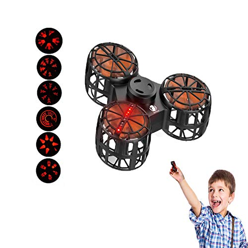 EliveBuy Flying Ball, Flying Fidget Spinner, Mini Drone with 6 LED Pattern, USB Rechargeable, Flying Toy for Boys Girls