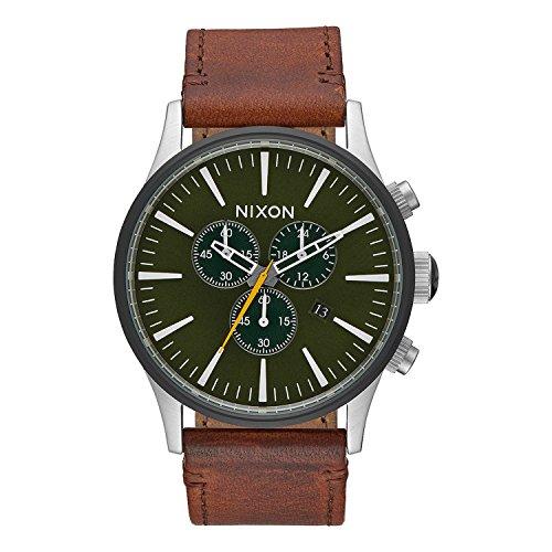 Twist Automatic Watch (Nixon Men's 'Sentry Chrono' Quartz Leather Automatic Watch, Color:Brown (Model: A4052334-00))