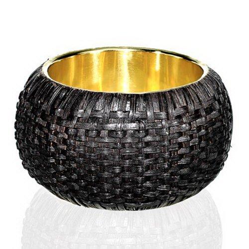 (JewelryVolt Fashion Bangle Dyed Weaved Bamboo)
