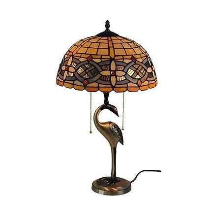 Lámpara de mesa de estilo Tiffany, lámpara de escritorio con base ...