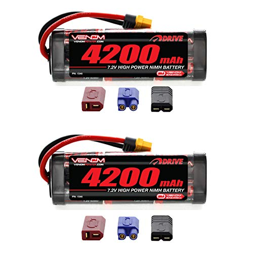 (Venom 7.2V 4200mAh 6-Cell NiMH Battery with Universal Plug (EC3/Deans/Traxxas/Tamiya) x2 Packs)