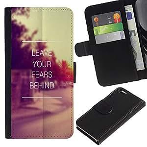 KingStore / Leather Etui en cuir / Apple Iphone 6 / Cita de motivación de la vendimia