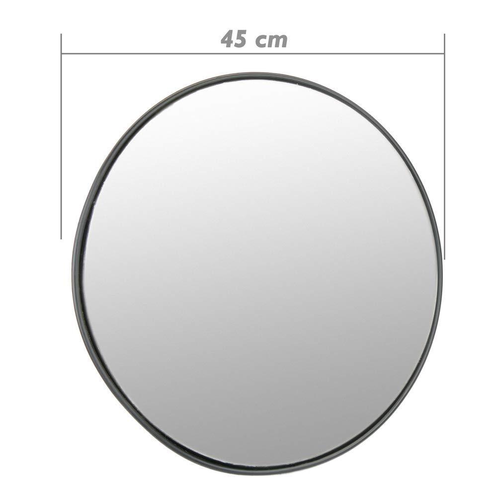 Cablematic - Espejo Convexo de señalización Seguridad vigilancia 45cm Interiores Negro: Amazon.es: Electrónica