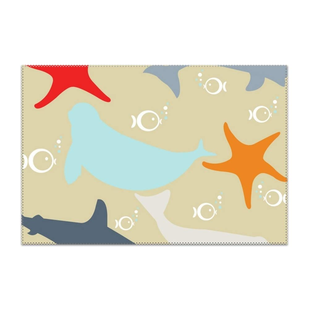 Groovy Amazon Com Yyoungsell Placemats Dining Table Sea Star Download Free Architecture Designs Scobabritishbridgeorg