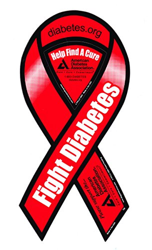 "Fight Diabetes - 4"" x 8"" Awareness Ribbon Magnet"