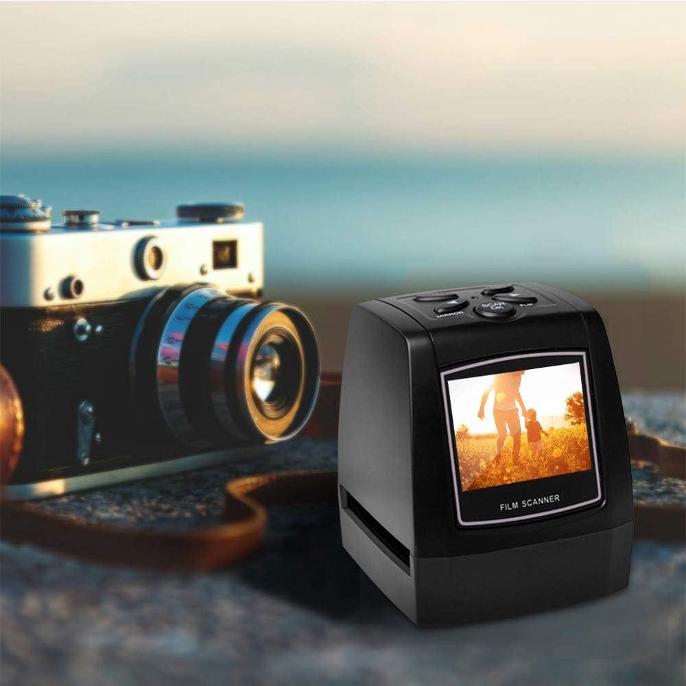 KK moon Mini Digital Film Scanner Converts 126KPK//135//110//Super 8 Films Slides Negatives to 22M Digital Photos 2.4inch LCD Screen 128MB Built-in Memory Kodak scanza Digital Film Scanner