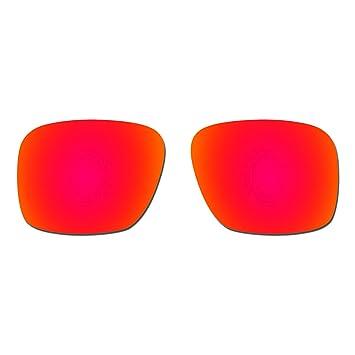 HKUCO Lentes de Repuesto para Oakley Holbrook XL OO9417 Gafas de Sol Rojo Polarizado