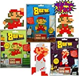 8-Bit Art Sticky Note Art Kit Nintendo Super Mario Bros. Large Mario Jumping, Standing & Fire Gift Set Bundle - 3 Pack