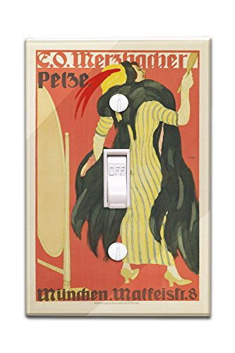 e-o-merzbacher-pelze-vintage-poster-artist-hofer-germany-c-1910-light-switchplate-cover