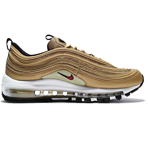 Nike Wmns Air Max 97 Og Qs Gold - Metallic Gold / Varsity Red 41 Eur