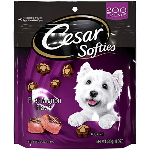 CESAR SOFTIES Dog Treats Filet Mignon Flavor, 18 oz. Pouch (200 Treats)