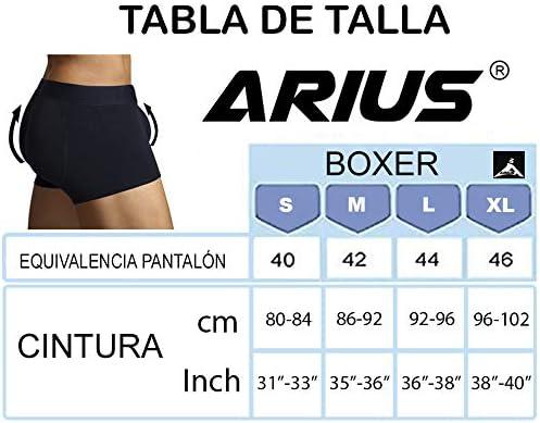 ARIUS Calzoncillo Boxer con Relleno Trasero y Relleno Delantero para Aumentar el Volumen y tama/ño de gl/úteos y Dar Volumen y Forma a los atributos Masculinos Mens Shapewear