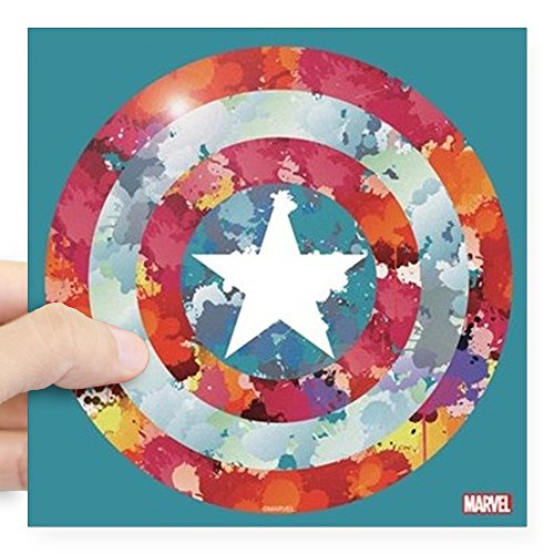 CafePress Captain America Tie Dye Shi Square Sticker 3 X 3 Square Bumper Sticker Car Decal, 3