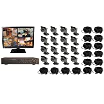 Safety Technology CS-162TB-M 16CH DVR COMPLETE SYSTEM, 2TB HD 16 WIRED CAMERAS WITH MONITOR