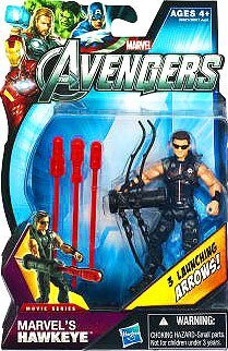 Marvel Avengers Movie 4 Inch Action Figure Marvels Hawkeye Sunglasses 3 Launching Arrows!