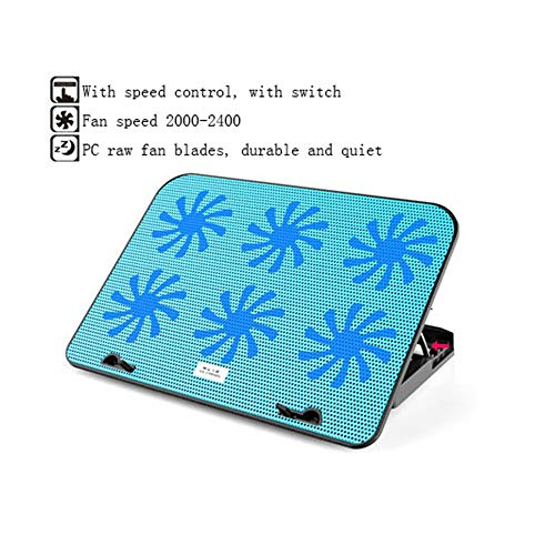 Gaming Laptop Cooler Cooling Pad, Fans and LCD Screen,Strong Wind Designed for Gamers and Office