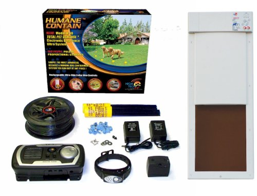 High Tech Pet Humane Contain X-10 Rechargeable Electronic Fence and