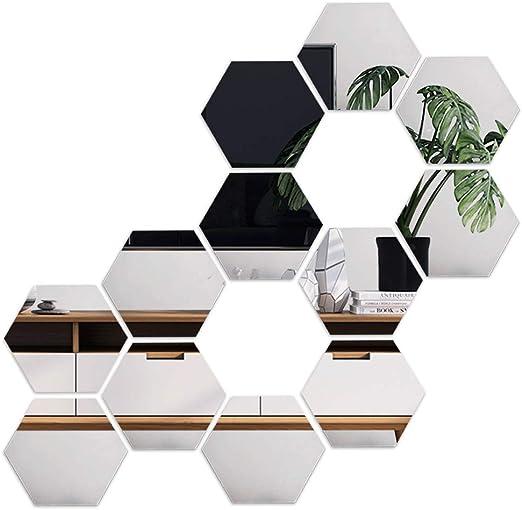 1X Wasserdicht Wandspiegel Wandaufkleber Spiegelfolie Home Dekoration Wandbild
