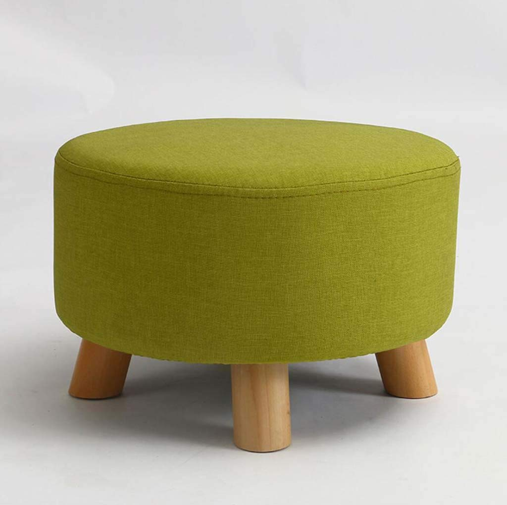 A XRFHZT Change shoes Stool Solid Wood Stool Fabric Sofa Stool Stool Stool Coffee Table Stool Small Bench,B