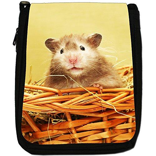 A Hamster Basket In Size Shoulder Black Medium Canvas Bag q64q0Rx