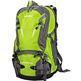Cheap WASING 45L Internal Frame Backpack Hiking Backpacking Packs for Outdoor Hiking Travel Climbing Camping Mountaineering with Rain Cover WS-45Lpack-green