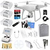 Dji Phantom 4k Best Deals - DJI Phantom 4 Quadcopter Kit Bundle with 4K Camera Gimbal, 3 DJI Batteries and Accessories (11 Items)