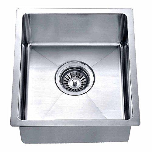 Dawn BS121307 Undermount Single Bowl Bar Sink, Polished Satin (Renewed) -