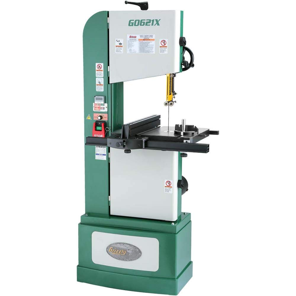 Grizzly Industrial G0621X 13-1/2'' 1-1/4 HP 3-Phase Vertical Wood/Metal Bandsaw
