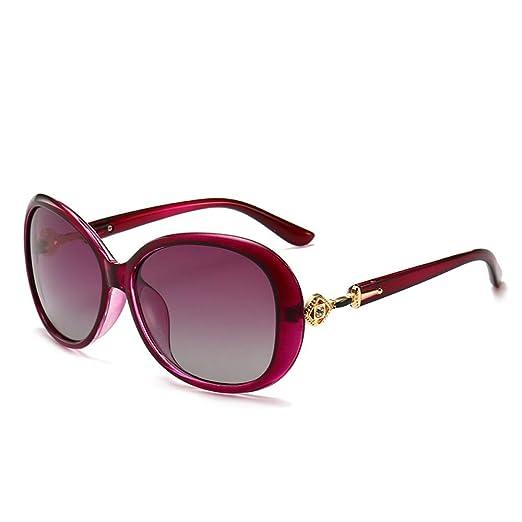 Yangjing-hl Elegantes Gafas de Sol de señora con Montura ...