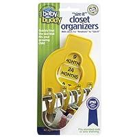 Baby Buddy Size-It Closet Organizers, Yellow