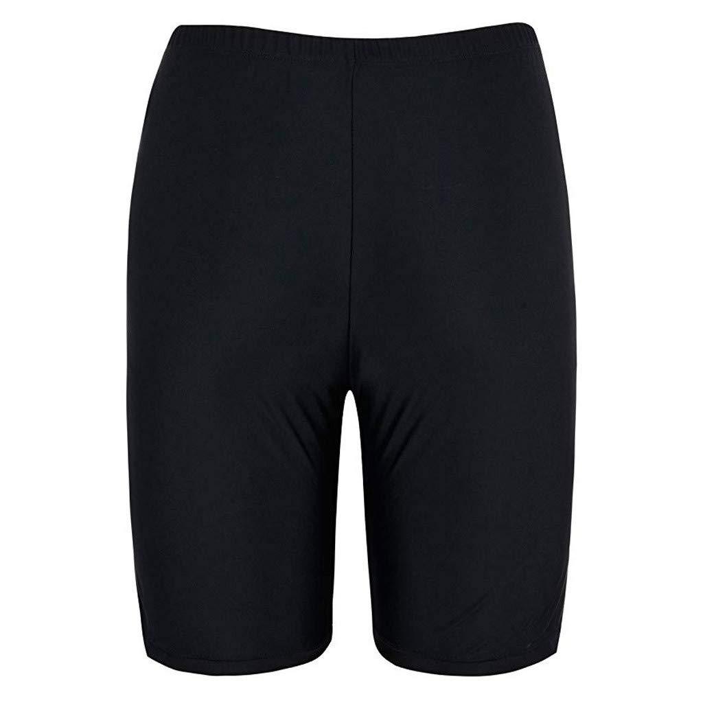 ZYUEER Swimming Costume for Women,Ladies Swimsuits Tummy Control Sport Sunscreen Elastic Bathing Bottom Skinny Capris Swim Shorts Trunks