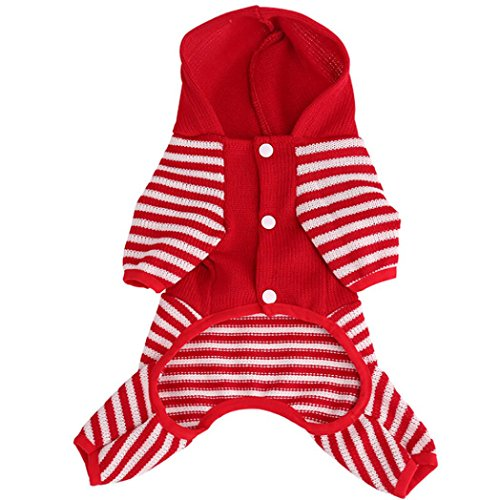 Funic Puppy Pet Dog Cat Clothes Winter Warm Sweater Coat Costume Apparel