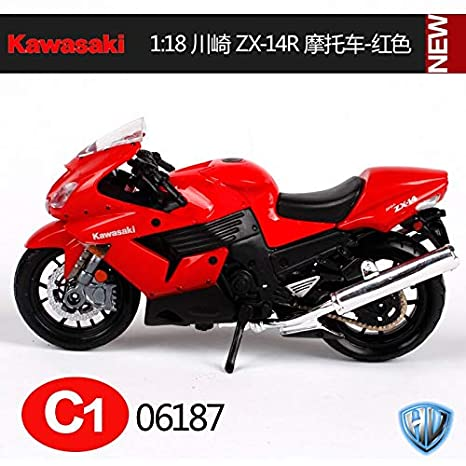 Amazon.com: Greensun 1:18 Kawasaki Ninja ZX 14R Blue ...