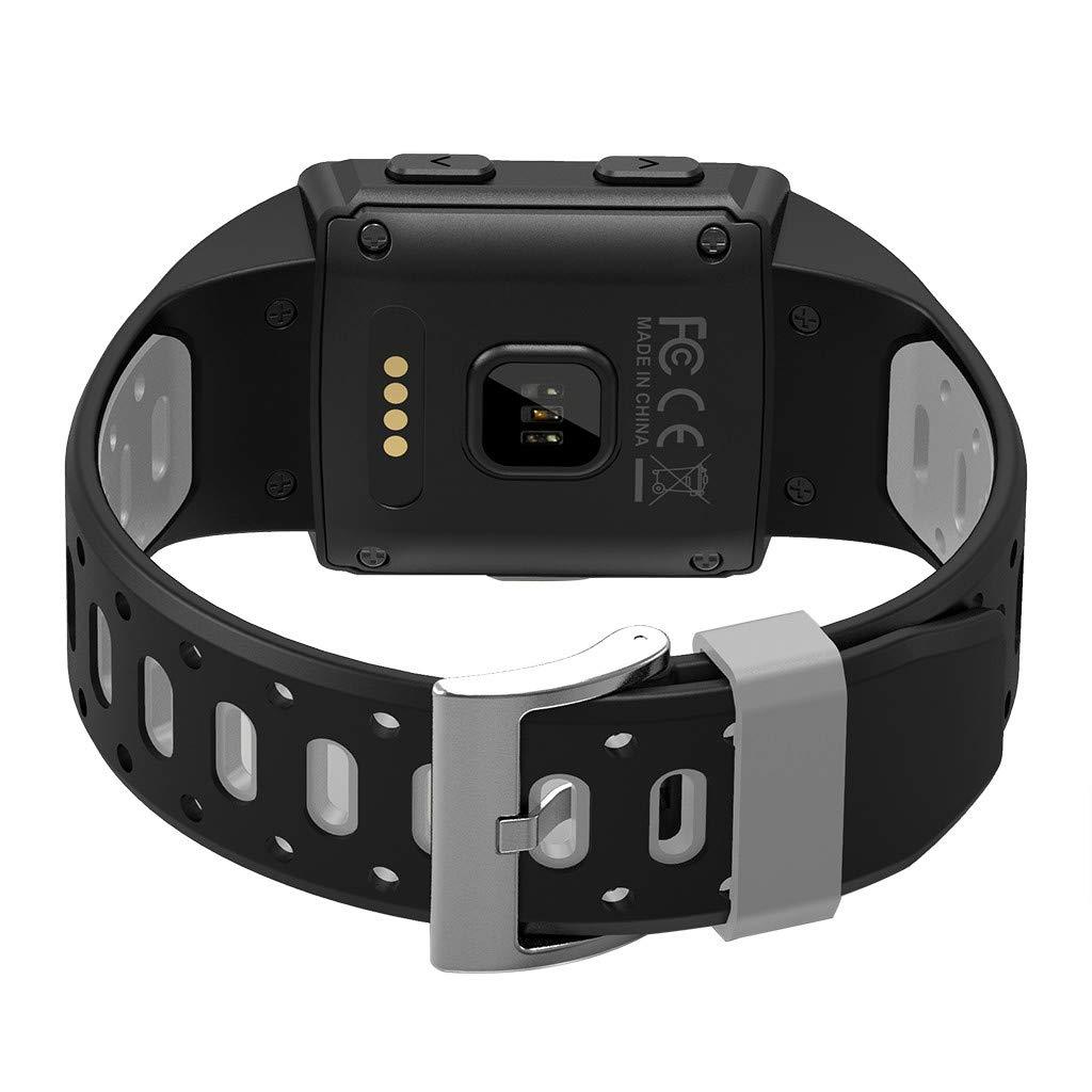 YNAA for iOS Android, Waterproof Sport Smart Watch, Smart Bracelet Blood Pressure Heart Rate Monitoring Tracker GPS Watch (Gray) by YNAA (Image #4)