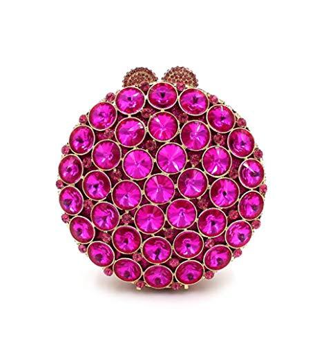 Sac KOKR Strass Les Femmes De Sac Fête Embrayage Sac De Main Clouté À Purple Rond Mariage Cristal ww74U1qxp