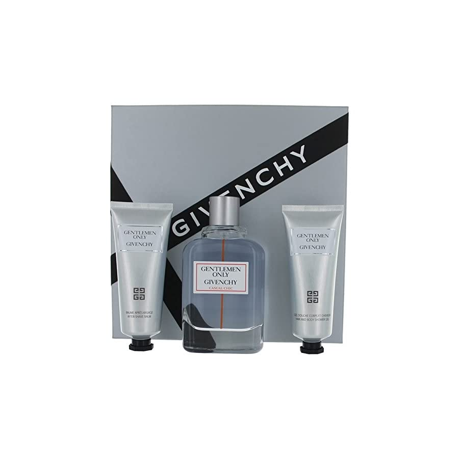 Gentlemen Only Casual Chic By Givenchy Edt Spray 3.3 Oz & Aftershave Balm 2.5 Oz & Shower Gel 2.5 Oz