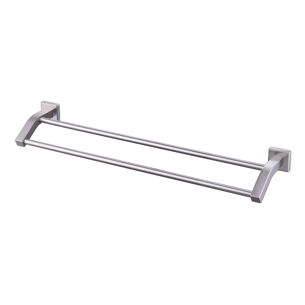 KES Towel Bar, Bathroom Shelf Double Rod 24 Inch Brushed SUS 304 Stainless Steel Wall Mount Rack Contemporary Style, A2202-2 KES Home (U.S.) Limited 5846504